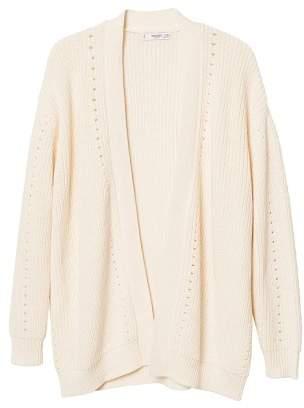 MANGO Ribbed cotton cardigan