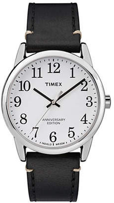 Timex BOUTIQUE Analog Easy Reader Anniversary Leather Strap Watch