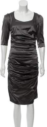 Dolce & Gabbana Short Sleeve Mini Dress Grey Short Sleeve Mini Dress