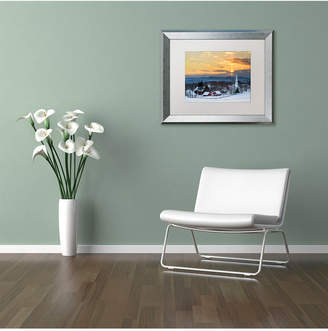 Michael Blanchette Photography 'Peace over Peacham' Matted Framed Art