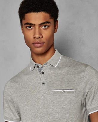 Ted Baker DERRY SS FLAT KNIT COLLAR POLO