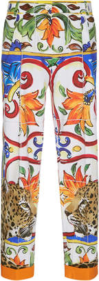 Dolce & Gabbana Maiolica Cropped Pants
