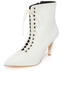 The Archive The Delancey Lace Up Booties