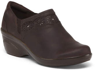 Clarks Wide Size Leather Comfort Clogs
