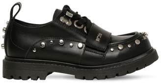 N°21 Studded Leather Lace-Up Shoes