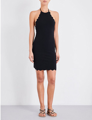 Marysia Mott scalloped mini dress $335 thestylecure.com