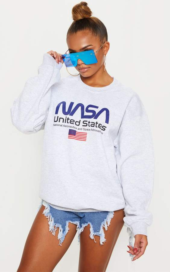 Grey Marl NASA Sweater