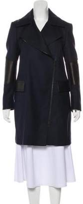 Belstaff Virgin Wool Zip-Up Coat black Virgin Wool Zip-Up Coat