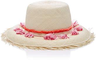 Playa Yestadt Millinery Tasseled Straw Bucket Hat