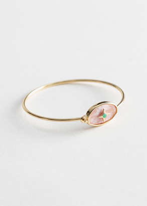 And other stories Oval Pendant Cuff Bracelet