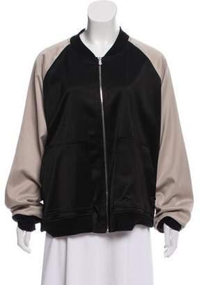 Monrow Two-Tone Bomber Jacket