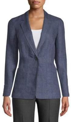 Lafayette 148 New York Alba Notch Lapel Linen Jacket