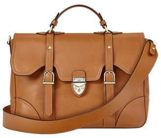 Aspinal of London Large Country Mollie Satchel In Smooth Tan