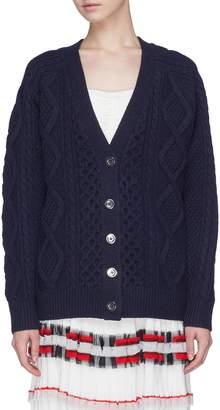 3.1 Phillip Lim Aran cable knit wool cardigan
