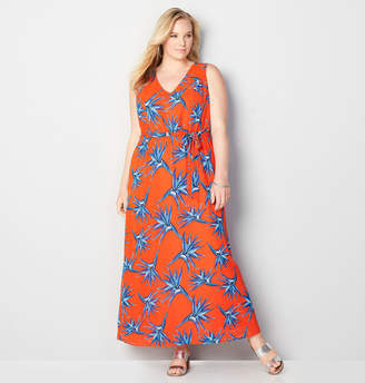 Avenue Blue Floral Maxi Dress
