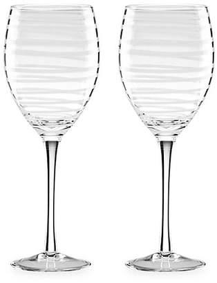 Kate Spade Two-Piece Charlotte Street White Wine Glasses Set