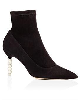 Sophia Webster Coco Crystal & Pearl Mid Ankle Boot 100