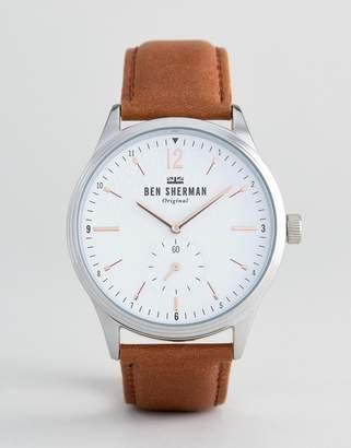 Ben Sherman WB015T Leather Watch In Tan