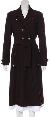 St. John Notched-Lapel Long Coat