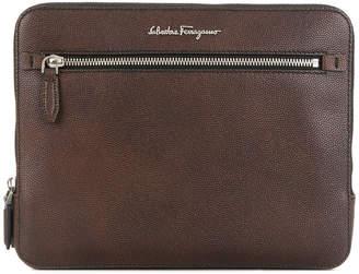 Salvatore Ferragamo logo laptop bag