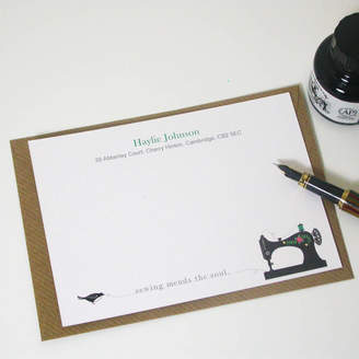 Moonglow Art Sewing Quote Notecards