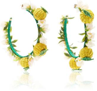 Mercedes Salazar Limones en Aro Earrings $175 thestylecure.com