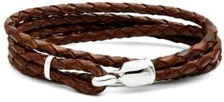 Miansai Trice Braided Leather Bracelet - Mens - Brown Multi