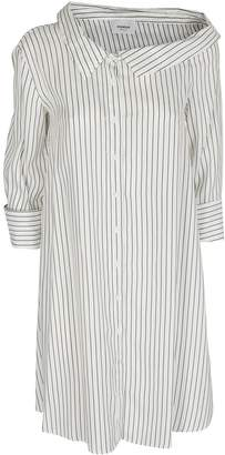 Dondup Pinstriped Shirt Dress