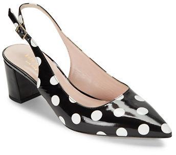 Kate SpadeKate Spade New York McCay Slingback Point Toe Leather Heels