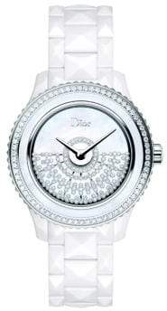 Christian Dior VIII Grand Bal Diamond, Mother-Of-Pearl, White Ceramic& Stainless Steel Automatic Bracelet