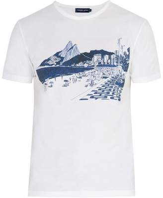 Frescobol Carioca - Beach Scene T Shirt - Mens - White Multi
