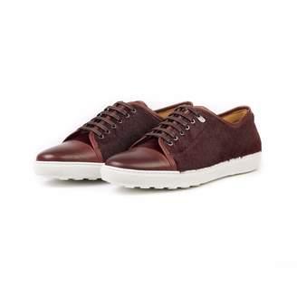 Donhall & Bell - Redchurch Calf Hair Luxury Sneaker Burgundy