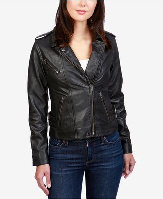 Lucky Brand Leather Moto Jacket $449 thestylecure.com