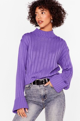 Nasty Gal You're Getting Warmer Ribbed Sweater