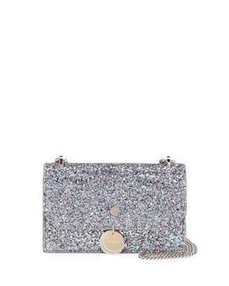 Jimmy Choo Finley Coarse Glitter Crossbody Bag