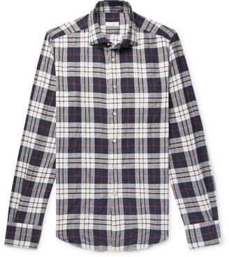 Incotex Slim-Fit Checked Stretch-Cotton Twill Shirt