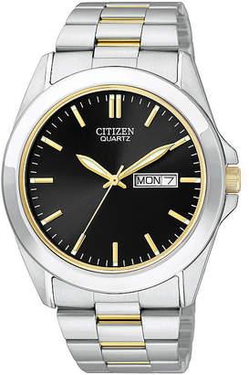 JCPenney Citizen Quartz Citizen Mens Two-tone Watch BF0584-56E