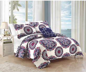 Chic Home Madrid 4 Piece King Quilt Set Bedding