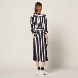 5b20e6b64f92 Sandro Midi dress with contrasting stripes