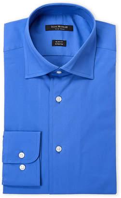 Isaac Mizrahi Cobalt Stretch Slim Fit Dress Shirt