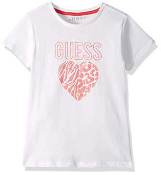 GUESS Girl's Ss T-Shirt Kniited Tank Top, (True White A000 Twht), (Size: 8)