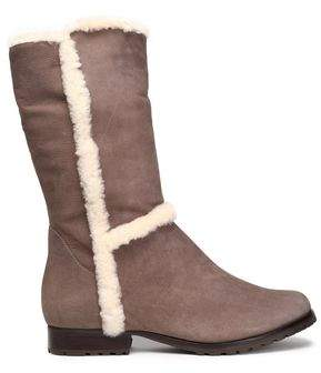 Schutz Shearling-Lined Leather Boots