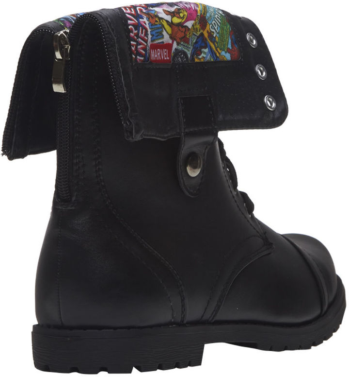 Wet Seal Marvel ComicsTM Foldover Combat Boots