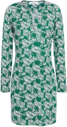 Diane von Furstenberg Printed Silk And Cotton-blend Jersey Mini Dress