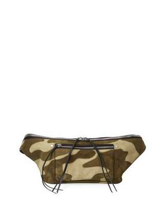 Rag & Bone Elliot Suede Fanny Pack Belt Bag, Camo