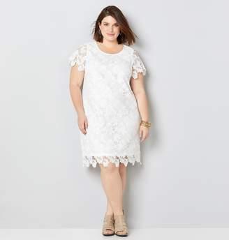 Avenue Plus Size Floral Lace Sheath Dress
