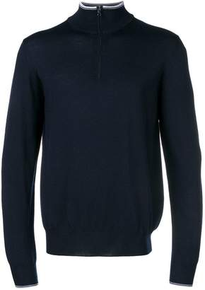 Fay zipped neck jumper