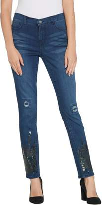 Women With Control Women with Control My Wonder Denim Tall Sequin Ankle Jeans