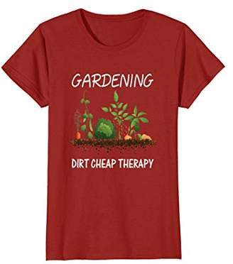 Gardening Dirt Cheap Therapy T-shirt Gardener Gift Tee