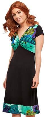 Joe Browns Monstera Deliciosa Print Dress - Black/Print